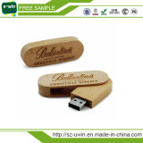 4GB Rotating Wooden Bamboo USB Flash Drive Memory Stick
