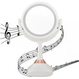 LED Lighted Musical Makeup Mirror with Bluetooth Speaker