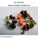 Different Colors on Brass Beads with Rounded Eye 08A-004