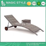 Garden Wicker Sun Lounge Patio Rattan Daybed (Magic Style)