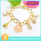 Fashionable Alloy Crystal Number Charm Bracelet Chain Bracelet