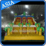 Giant Inflatable Double Lane Fun Dinosaur Slide