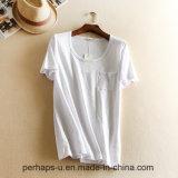 High Quality Women Clothes Loose Pure Color Cotton T-Shirt