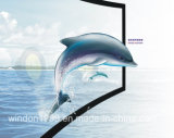 Projection Screen-Curved Fixed Frame Screen with 3D Silver Screen