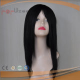 Mono Full Lace PU Edge All Hand Tied Jet Black Human Hair Toupee Type Wig