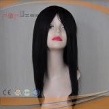 Mono Full Lace PU Edge All Hand Tied Jet Black Human Hair Toupee Type Wig