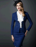 Top-Quality Woolen Ladies 3PCS Elegant Dress Business/Dinner Suit