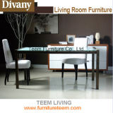 Carbonized Steel Frame of Dining Table Modern Style