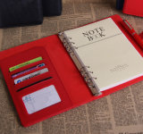 Red Notebook with Bank Card Pocket