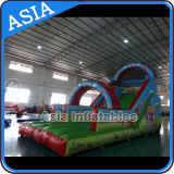 Digital Printing Inflatable Wave Water Slide with Arches