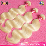 King Hair Blonde Brazilian Hair Weave Bundles Color #613 Brazillian Virgin Hair Body Wave Platinum Blonde Virgin Hair