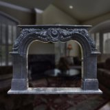 Low Price Caved Natural Marble Fireplace Cultured Marble Fireplace Designs T-6395