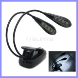 Logo Printing 2 Brightness Settings Rechargeable Extra-Bright 8 LED Clip Book Light