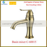 Golden Basin Tap with Acs Approved for Bathroom