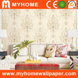 Non Woven Wall Covering with Golden Glitter