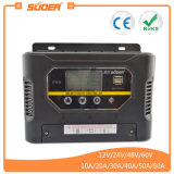 Suoer 48V 10A PWM Manual Auto Solar Charge Controller for Home Solar Systems (ST-W4810)