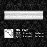 Polyurethane Victorian Crown Molding Carved Cornice Hn-8024