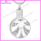 Ashes Into Jewellery Round Pendant with Crystals Ijd9690