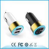 Wholesale Blue LED Lighting 4800mAh Double USB Car Charger