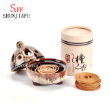 Round Terracotta Mosquito Coil Holder