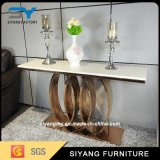 Luxury Design Golden Stainless Steel Console Table for Sale