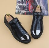 New Arrival Leather Loafers Slip on Men′s Flat Shoes (AKLS14)