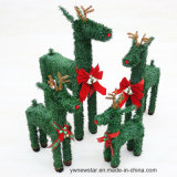 PVC Green Christmas Deer for Holiday Decoration