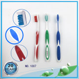 PP Handle with Soft Rubber and Cover Adult Nylon Toothbrush