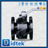Didtek DIN Pn40 Flanged End Forged 2 Piece Floating Ball Valve