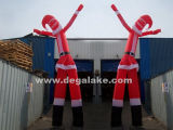 Santa Claus Inflatable Air Dancer with 2 Legs for Christmas
