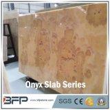 Orange Jade Onyx Slab for Background Wall and Border Line