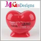 Low Price Anniversary Gifts Heart Shape Ceramic Piggy Bank
