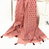 Fashion Colorfule Paisley Printed Scarf in 100% Polyester (HP02)