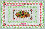140*215cm Round PVC Printed Transparent Tablecloth of Independent Design