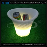 Rotational Moulding Plastic LED Ice Bucket with BV