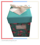 Christmas Gift Box with Ribbon Decorated Lid
