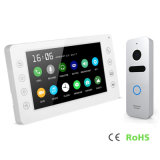 Memory 7 Inches Intercom Video Doorphone Home Security Interphone