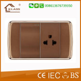 Reliable Quality Good Quality 1lever Switch and 3pin Thailand Socket