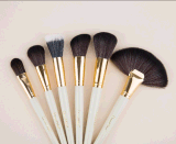 24 PCS Christmas Eve Makeup Brush with White PU Bag