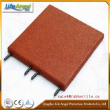 Pin-Hole Playground Rubber Flooring Tile, Colorful Rubber Paver