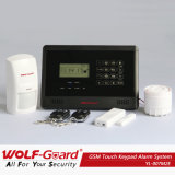 GSM Touch Keypad Alarm System with Built-in Wireless Transmitter
