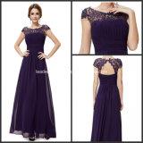 Purple Lace Chiffon Formal Bridesmaid Dresses P14944