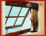 Wooden Color Aluminum Glass Awning Window