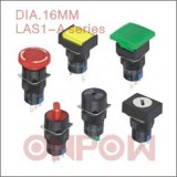 Single Light Push Button Switch (ONPOW LAS1-A, 16mm)