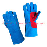Reinforced Palm Cow Split Leather Welding Working Glove