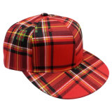 Fashion Snapback Baseball Cap Withchecker Fabric (GJ1762)