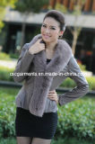 Genuine Leather Jacket, Fox Fur Coat for Ladies (CW2110)