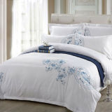 5PCS Hotel Collection 400 Thread Count Cotton Embroidered Duvetcover