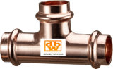 Copper Press Fitting Tee 15 mm Contour V