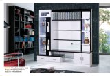 Living Room Furniture Wood White Black Hall Wine Cabinet TV Cabinet